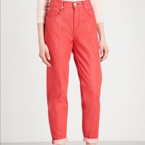 NWT rag & bone red jeans